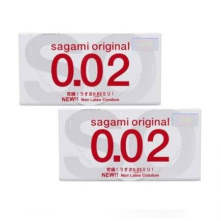 Hộp bao cao su Sagami Original 0.02 2 chiếc